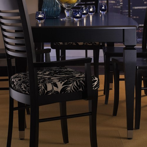 Canadel Custom Dining - Contemporary Customizable Boat Shape Table with Leaf