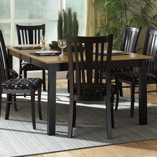 Canadel Custom Dining - Contemporary Customizable Rectangular Table with Leaf