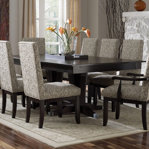Canadel custom dining contemporary customizable for Custom dining room tables