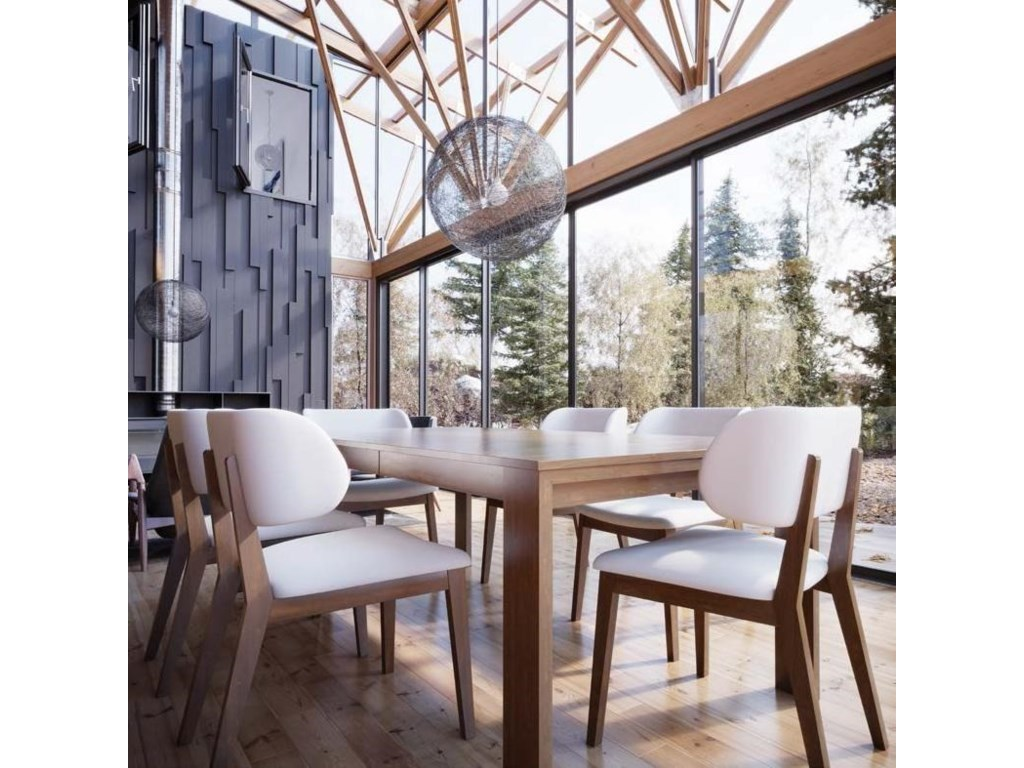 Canadel Downtown - Custom DiningCustomizable Rectangular Table Set