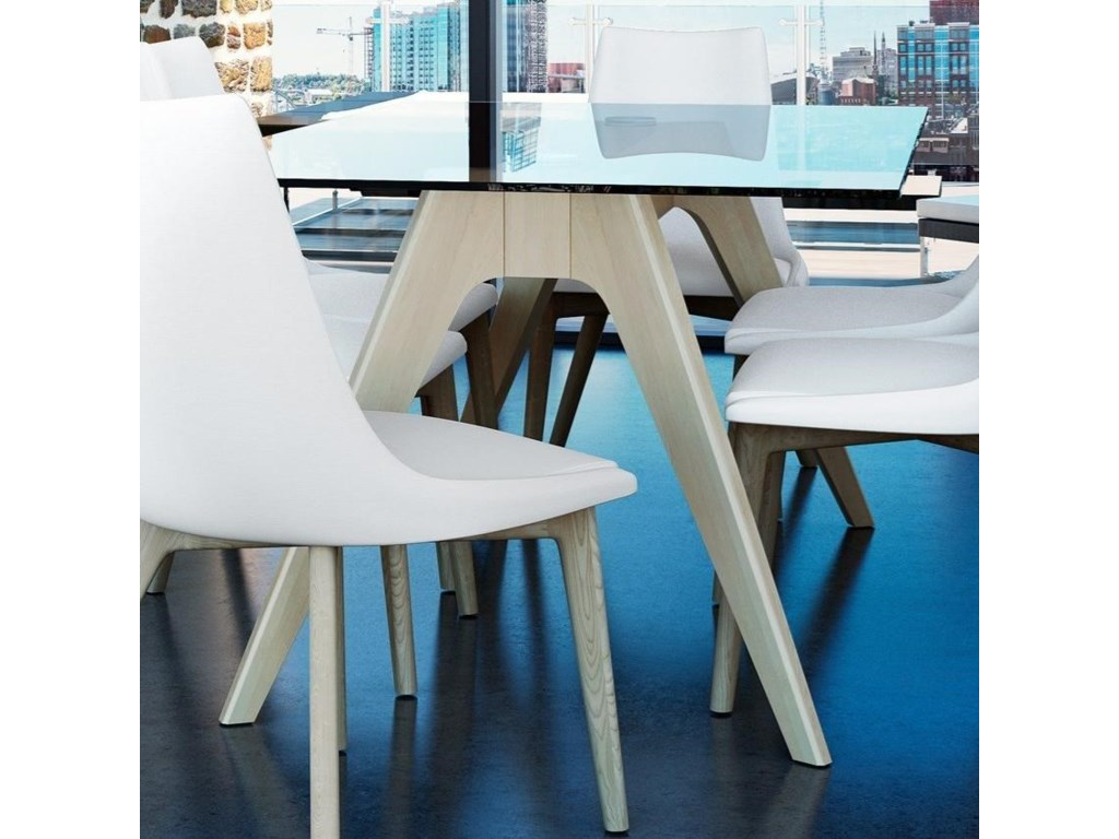 Canadel Downtown - Custom DiningCustomizable Glass Top Table