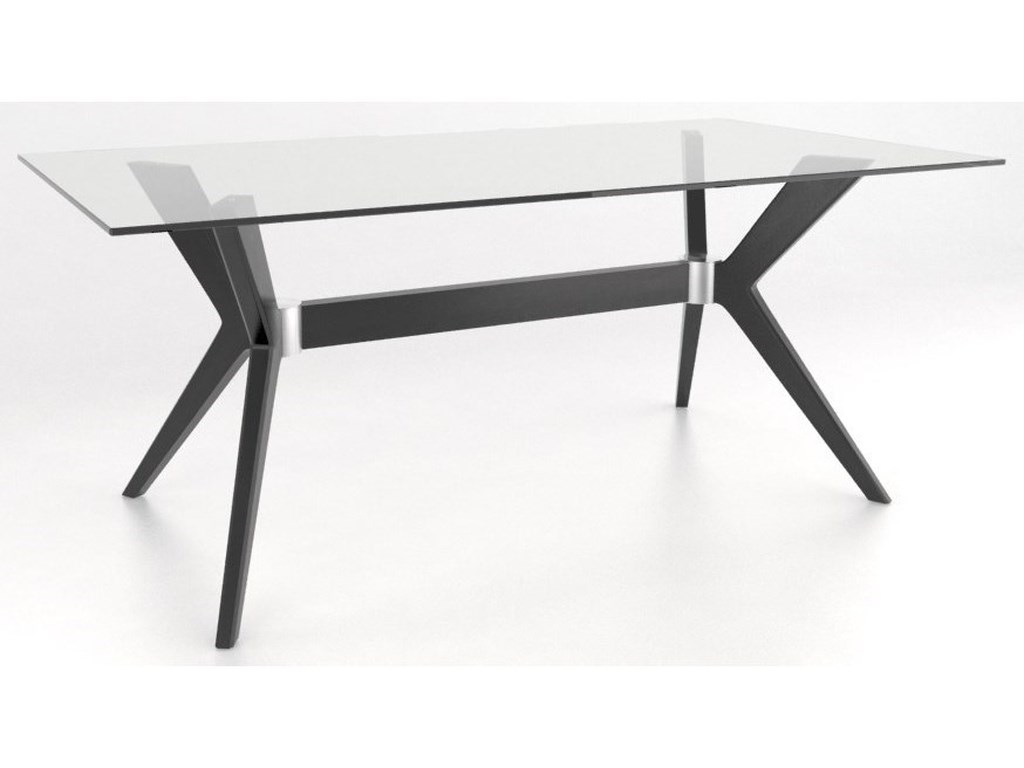 Canadel Downtown - Custom DiningCustomizable Glass Top Table Set
