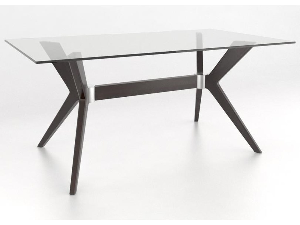 Canadel Downtown - Custom DiningCustomizable Rectangular Table w/ Glass Top