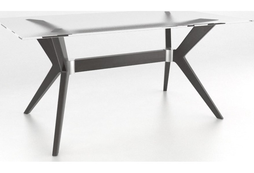 Canadel Downtown Custom Dining Customizable Contemporary Glass Top Dining Table Belfort Furniture Dining Tables