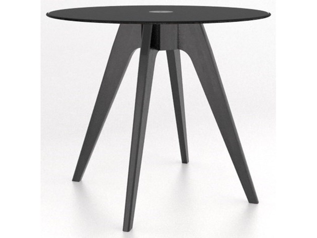 Canadel Downtown - Custom DiningCustomizable Round Glass Top Counter Table