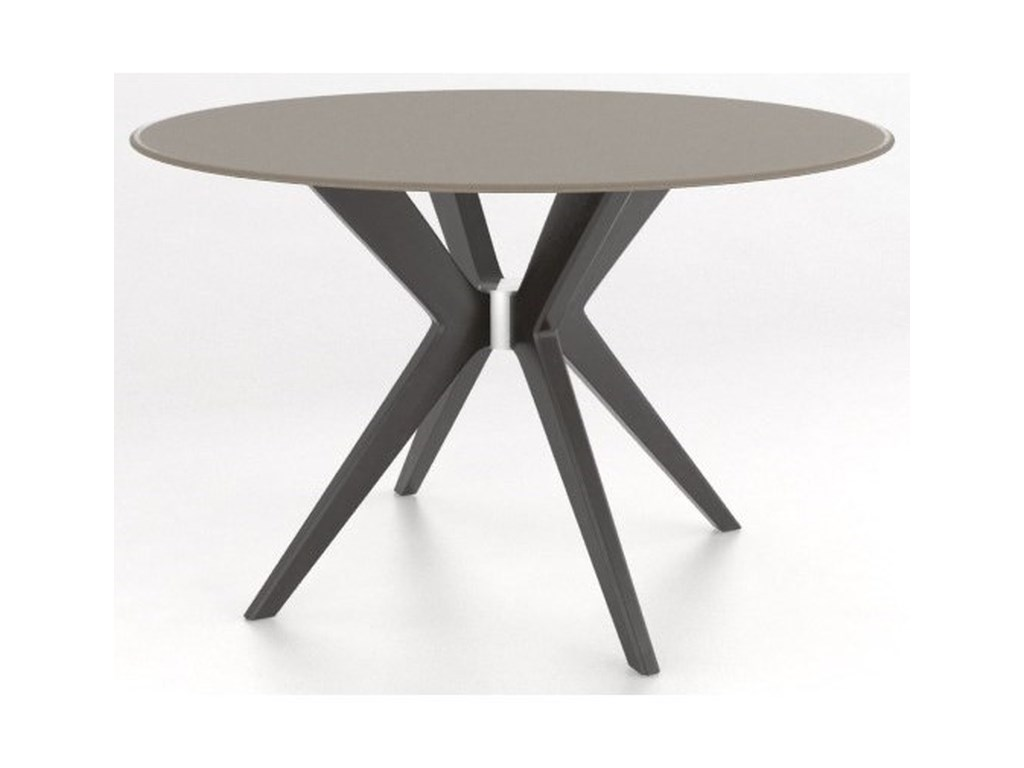 Canadel Downtown - Custom DiningCustomizable Round Glass Top Table