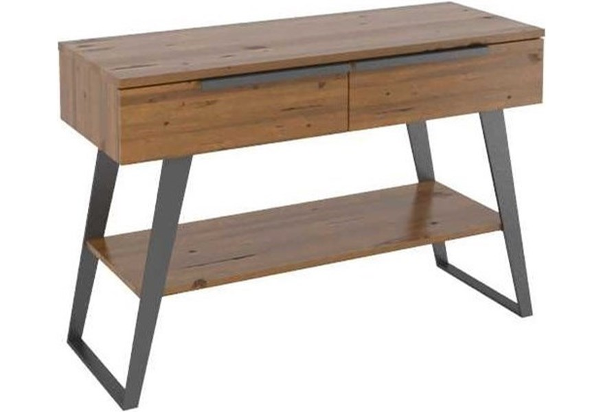 Canadel East Side 1319013 Customizable Industrial Style Wooden Buffet With Metal Legs Dunk Bright Furniture Sideboards