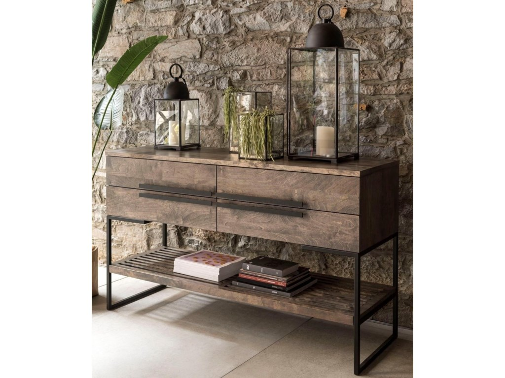 Canadel East Side Customizable Wooden Buffet With Metal Legs