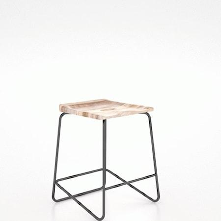 Customizable Wood/Metal Saddle Stool