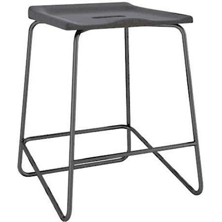 Customizable Upholstered Metal Saddle Stool
