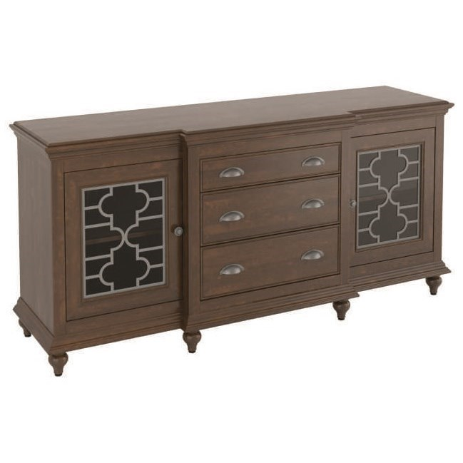 Customizable Buffet with Breakfront Design