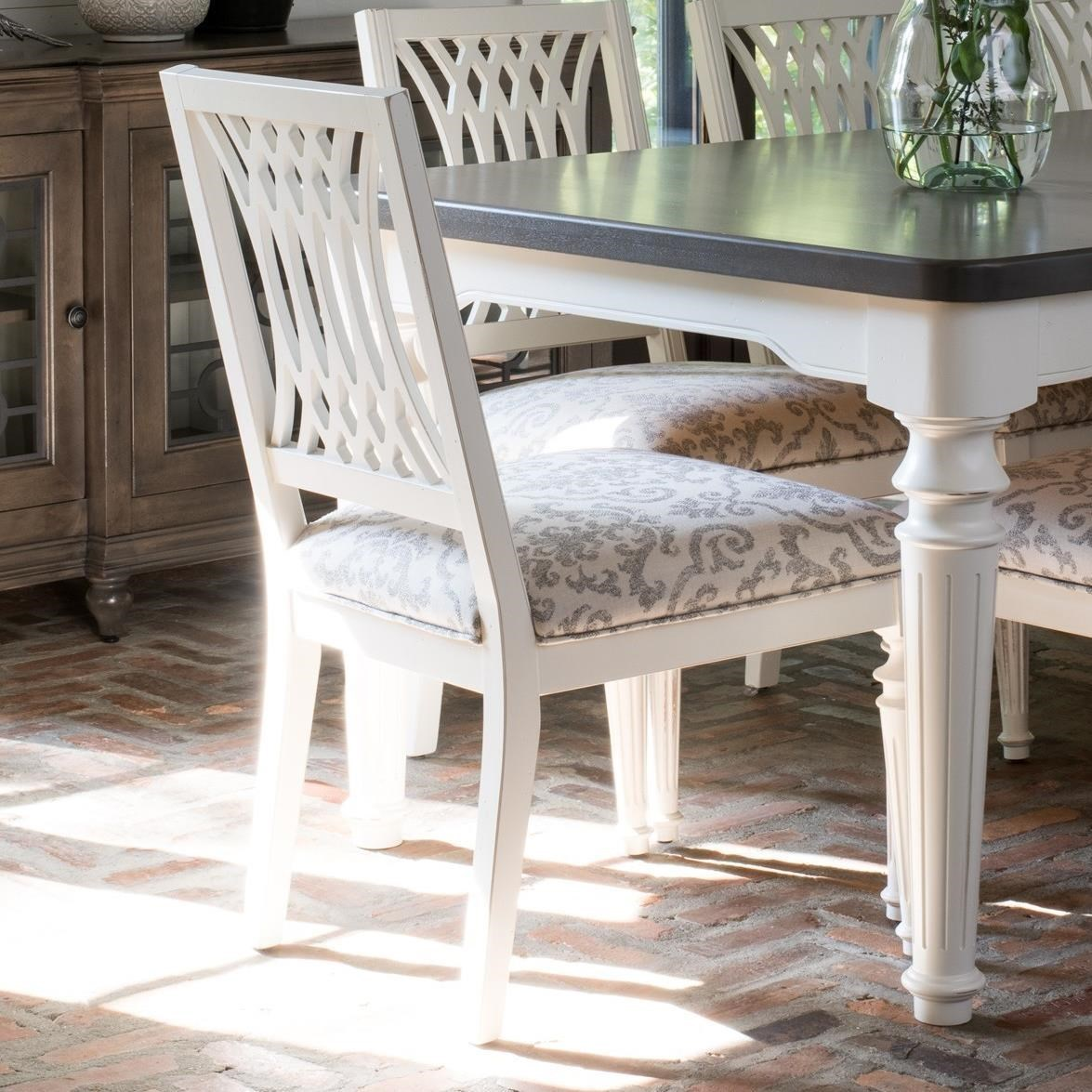 Customizable Dining Side Chair with Cutout Back Design