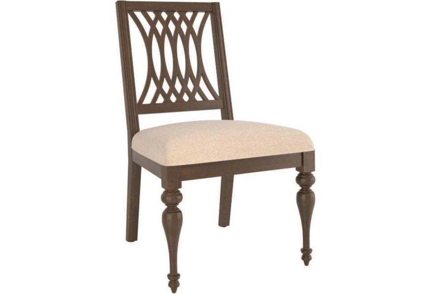 Canadel Farmhouse Cnn05158jn19mfa Customizable Dining Side Chair With Cutout Back Design Becker Furniture Dining Side Chairs