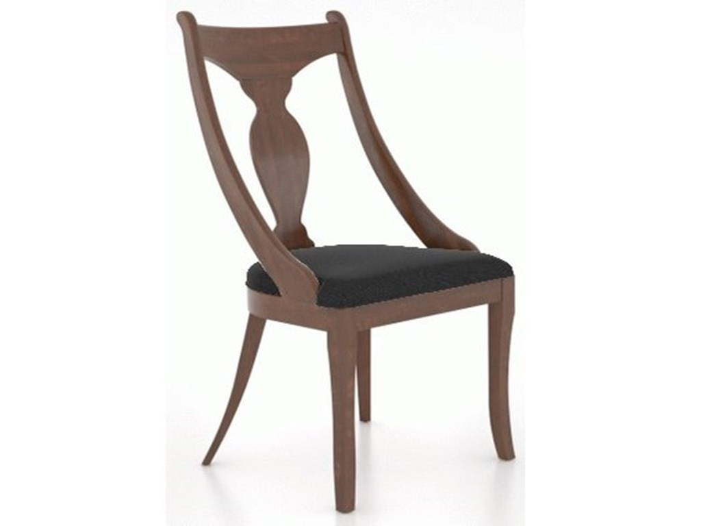 Canadel Farmhouse ChicCustomizable Chair with Upholstered Seat