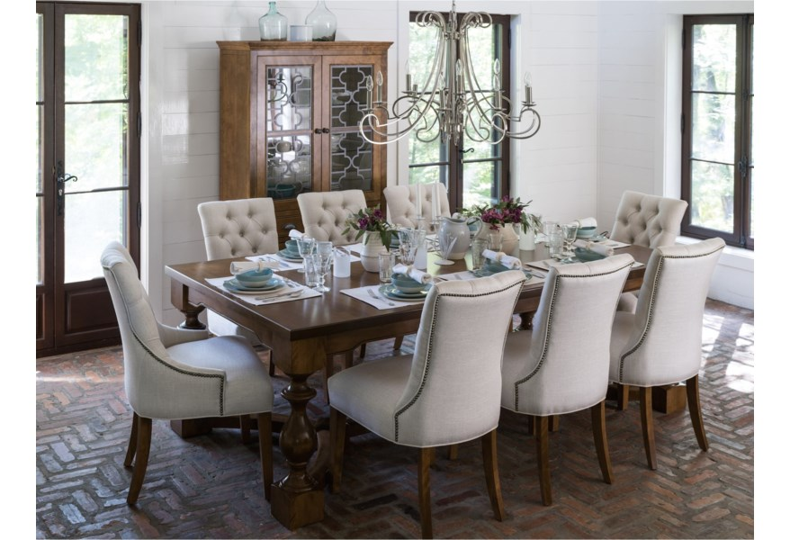 Canadel Farmhouse Chic Dining Room Group Jordan S Home Furnishings Formal Dining Room Groups