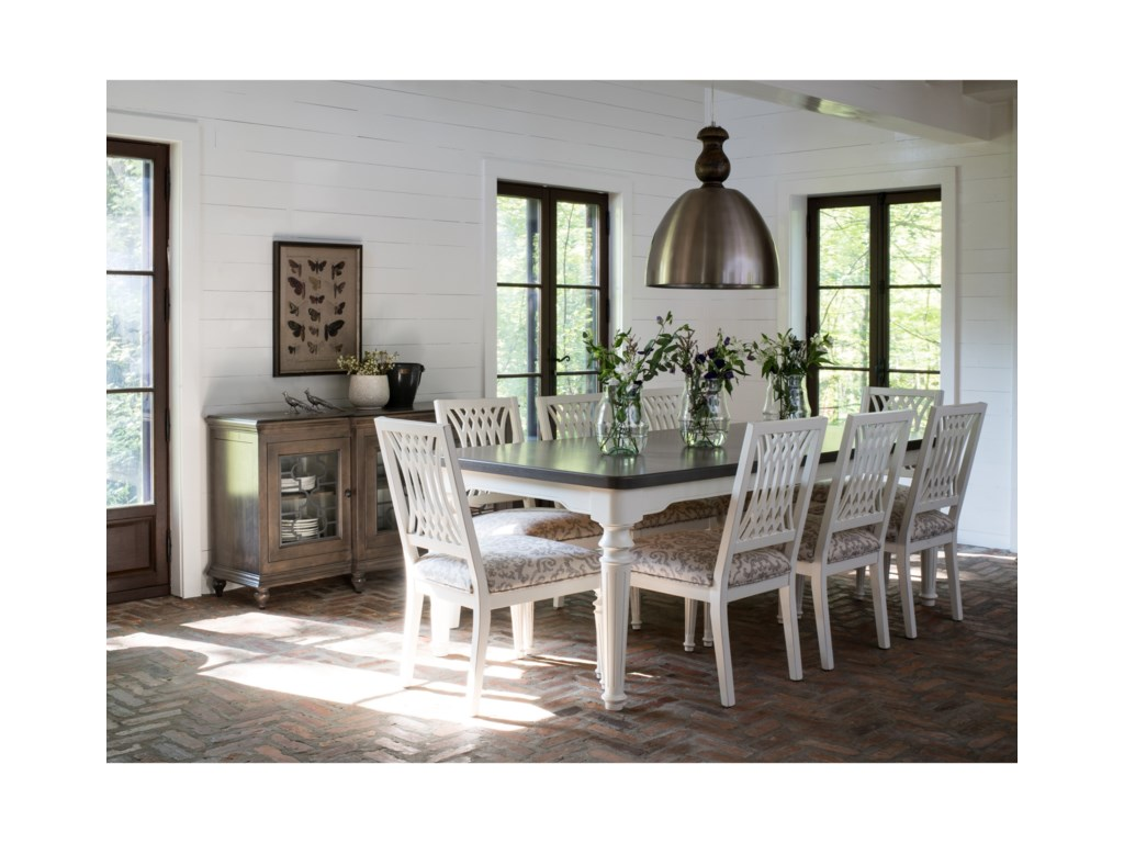 Canadel Farmhouse ChicCustomizable Dining Table Set