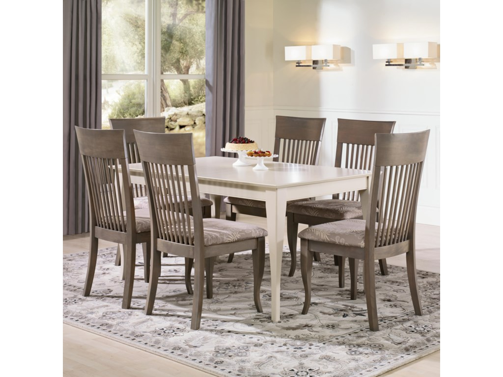 Canadel Gourmet - Custom Dining<b>Customizable</b> Rectangular Table Set