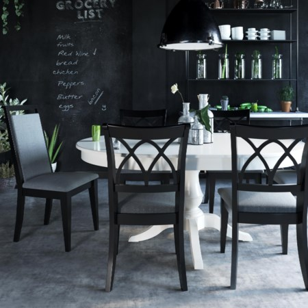 Customizable Round/Oval Table Set