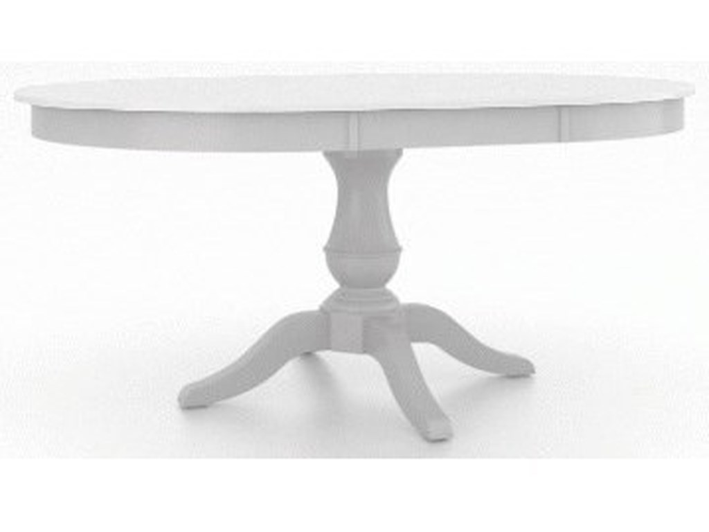 Canadel Gourmet - Custom DiningCustomizable Round/Oval Table with Pedestal