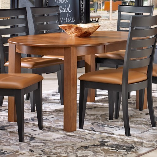 Canadel Gourmet - Custom Dining Customizable Round Leg Table with Leaf