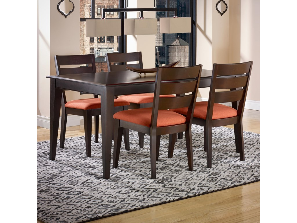 Canadel Gourmet Custom Dining Customizable Rectangular Table Set - Custom kitchen table and chairs