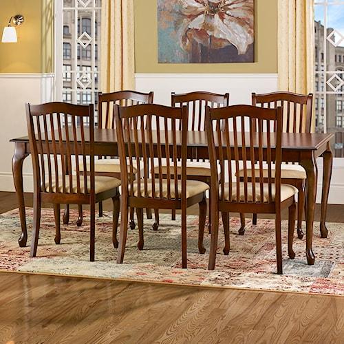 Canadel Gourmet - Custom Dining Customizable Rectangular Leg Table Set with Leaf