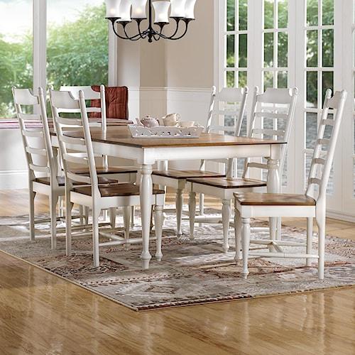 Canadel Gourmet - Custom Dining Customizable Rectangular Table Set