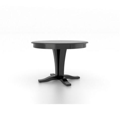 Gourmet   Custom Dining Customizable Round Table With Pedestal Base By  Canadel