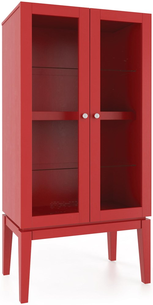 Canadel Gourmet Customizable Curio with Glass Doors