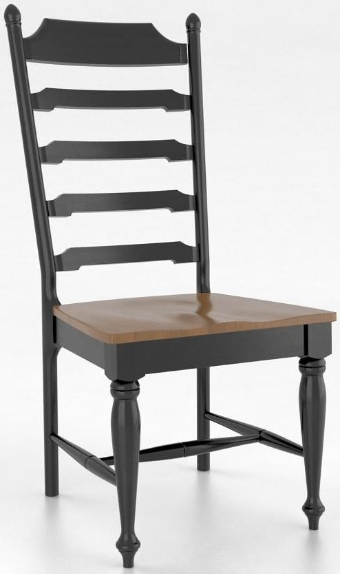 Canadel gourmet customizable side chair wood seat for Furniture 0 percent financing