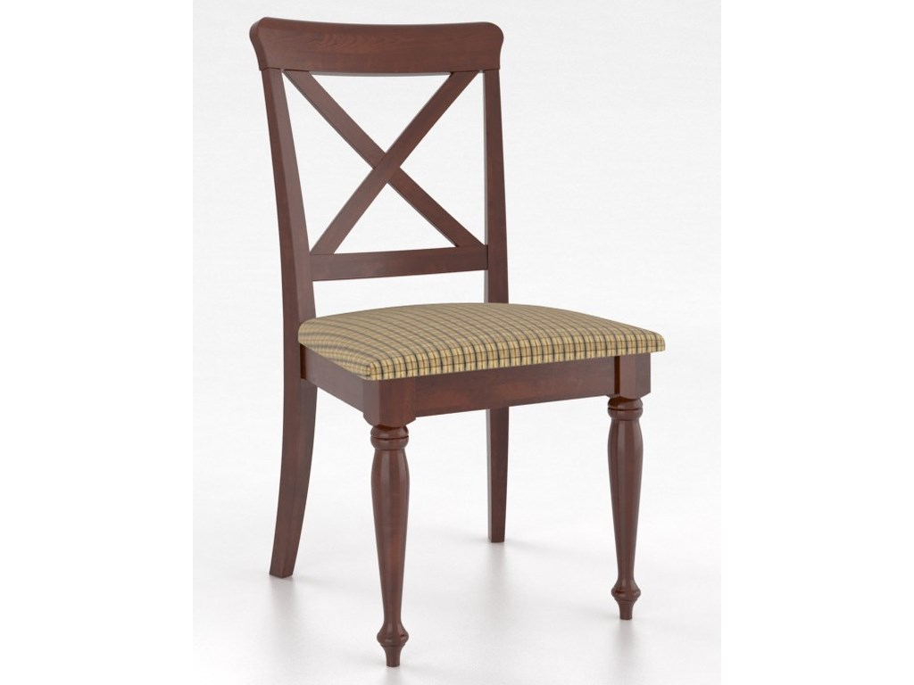Canadel GourmetCustomizable Petite X-Back Side Chair