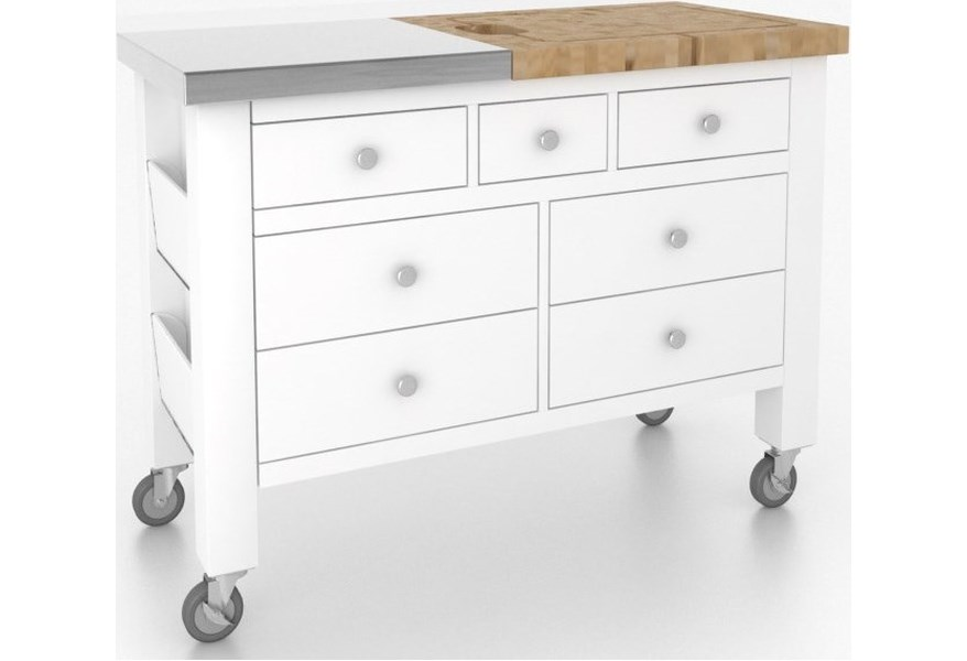 Canadel Gourmet Isl04836na50mt5 Customizable Kitchen Island With