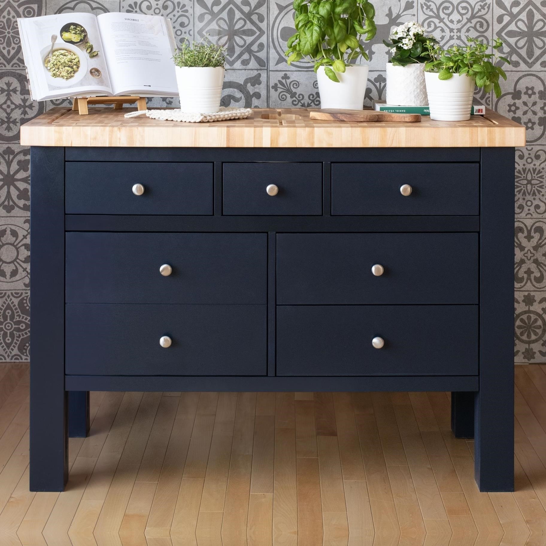 Customizable Kitchen Island with Butcher Block Top