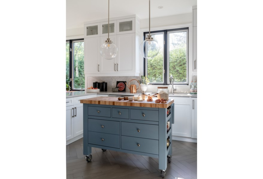 Canadel Gourmet Customizable Kitchen Island with Butcher ...