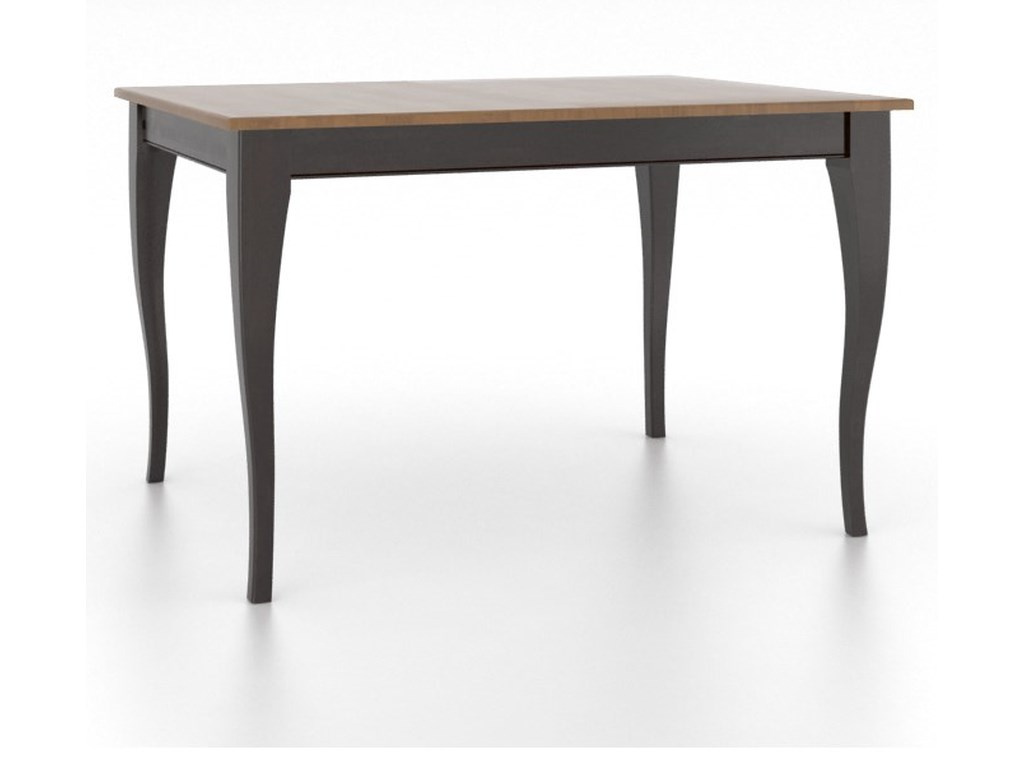 Canadel GourmetCustomizable Rectangle Table w/ Legs