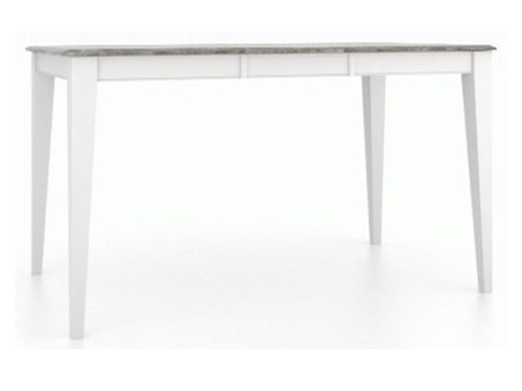 Canadel GourmetCustomizable Rect. Counter Table w/ Leaf