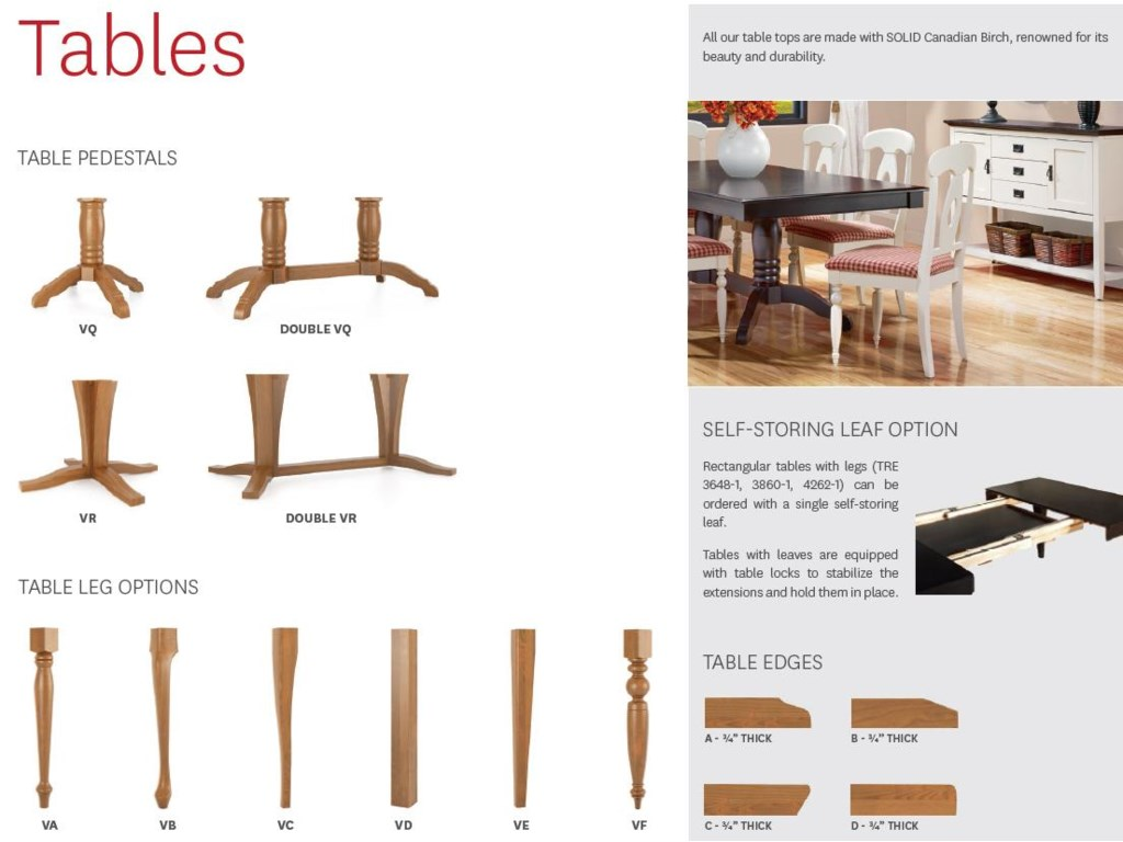Canadel Gourmet<b>Customizable</b> Rectangle Table w/ Legs