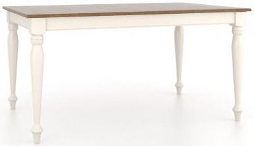 Canadel Gourmet Customizable Rectangular Table with Legs
