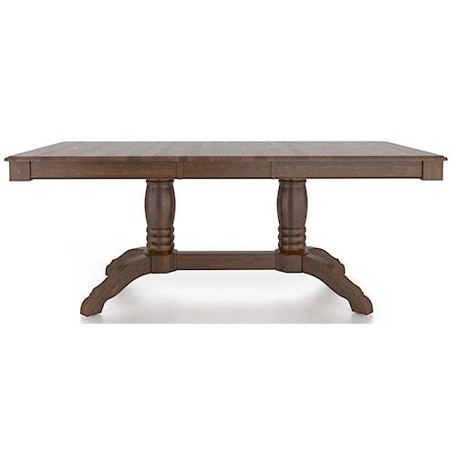 Canadel Gourmet Customizable Rectangular Table with Pedestal