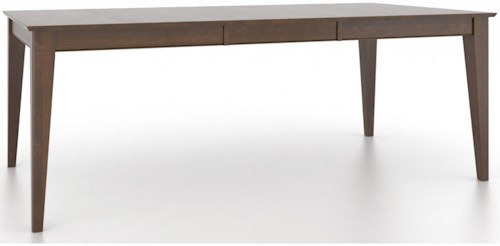 Canadel Gourmet Customizable Rectangular Dining Table w/ Self-Storing Leaf
