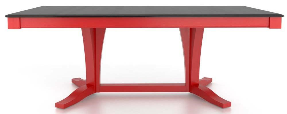 Canadel Gourmet<b>Customizable</b> Rect. Table w/ Pedestal
