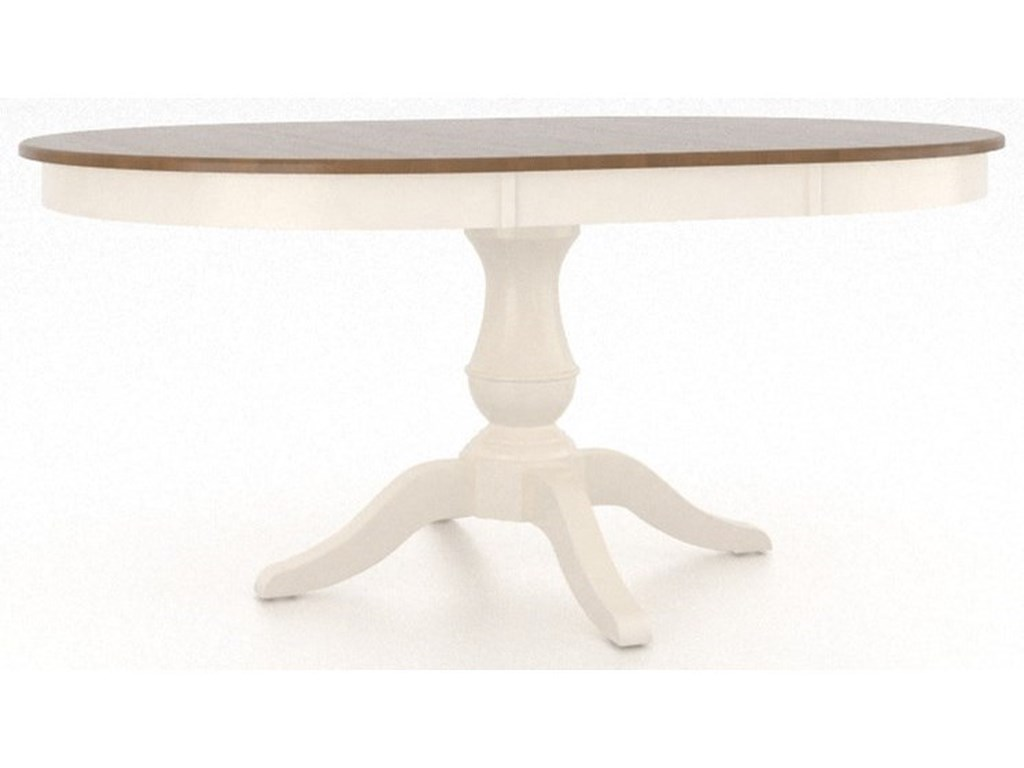 Canadel GourmetCustomizable Round Pedestal Table with Leaf