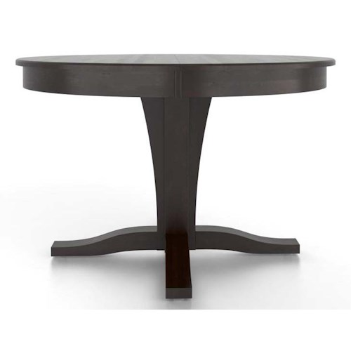 Canadel Gourmet Customizable Round Table with Pedestal