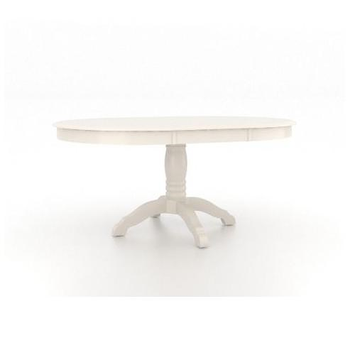 Canadel Gourmet Customizable Round Table with Pedestal & Leaf