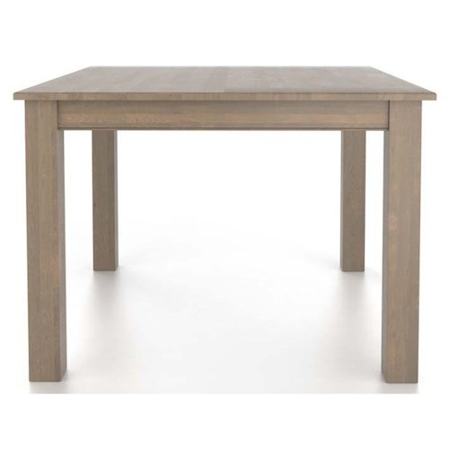 Canadel Gourmet Customizable Square Table with Legs