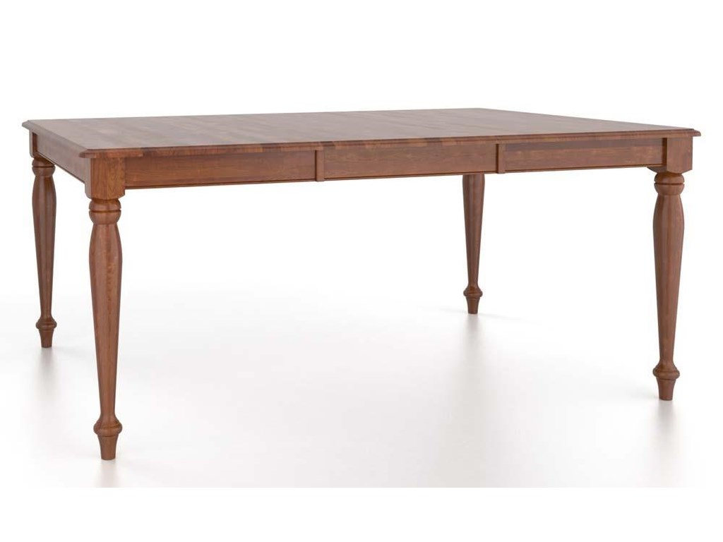 Canadel Gourmet<b>Customizable</b> Rect. Table w/ Leaf