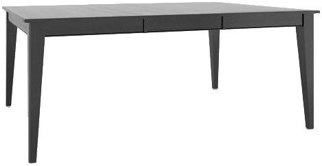 Canadel Gourmet Customizable Square/Rectangular Table with Legs & Leaf
