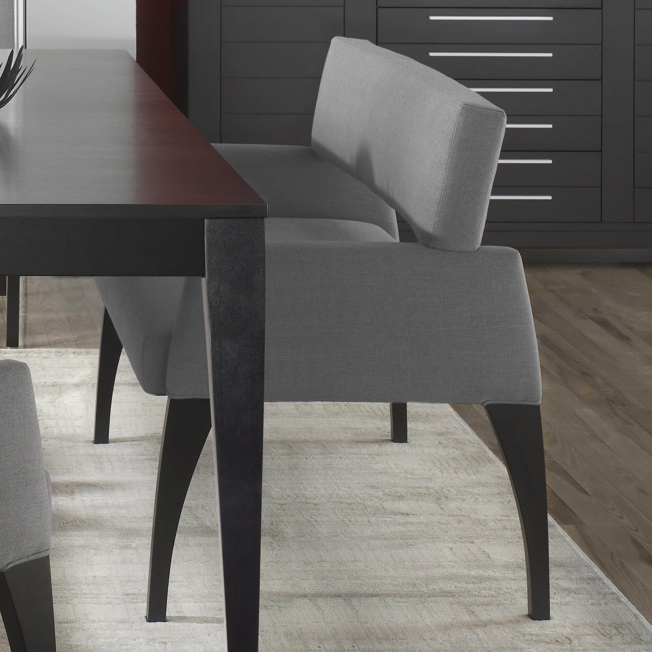 Canadel Custom Dining Modern Customizable Upholstered Dining Bench   Becker  Furniture World   Dining Benches