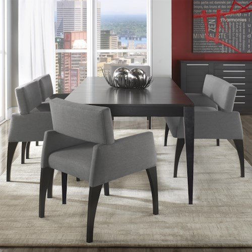 Canadel Custom Dining Modern Customizable Table Set with Bench
