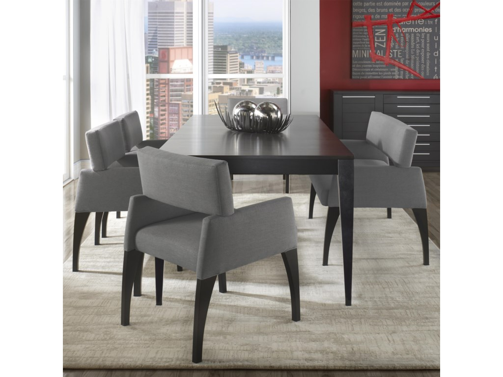 Canadel Custom Dining Modern Customizable Table Set with Bench   John V  Schultz Furniture   Table   Chair Set with Bench. Canadel Custom Dining Modern Customizable Table Set with Bench